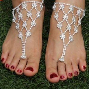 Sparkling Rhinestone Diamond Foot Jewelry